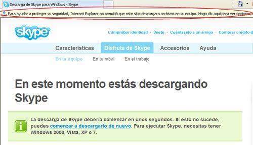 Instalar Skype paso 1