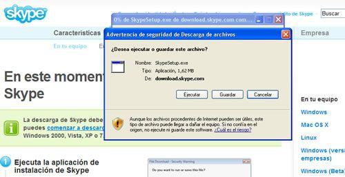 Instalar Skype paso 2
