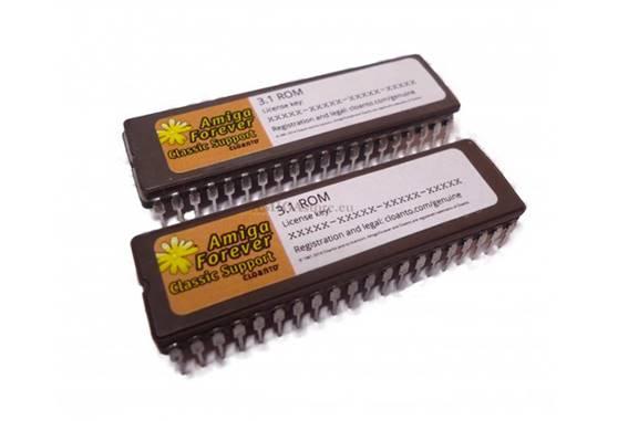 Dos chips de memorias ROM interna de Amiga
