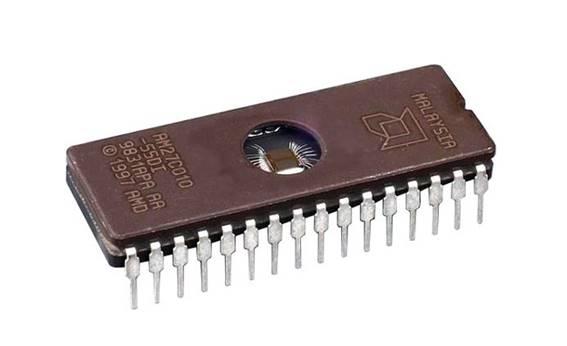 Chip de memoria EPROM AM27C010