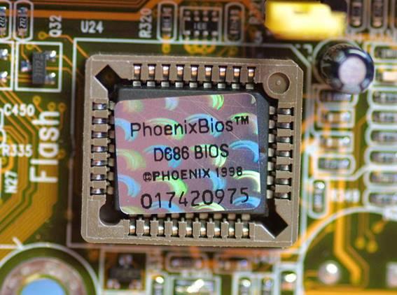 Chip de memoria EEPROM D686 BIOS