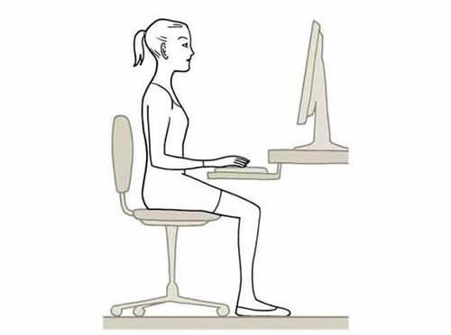 Mantener una buena postura frente a la computadora